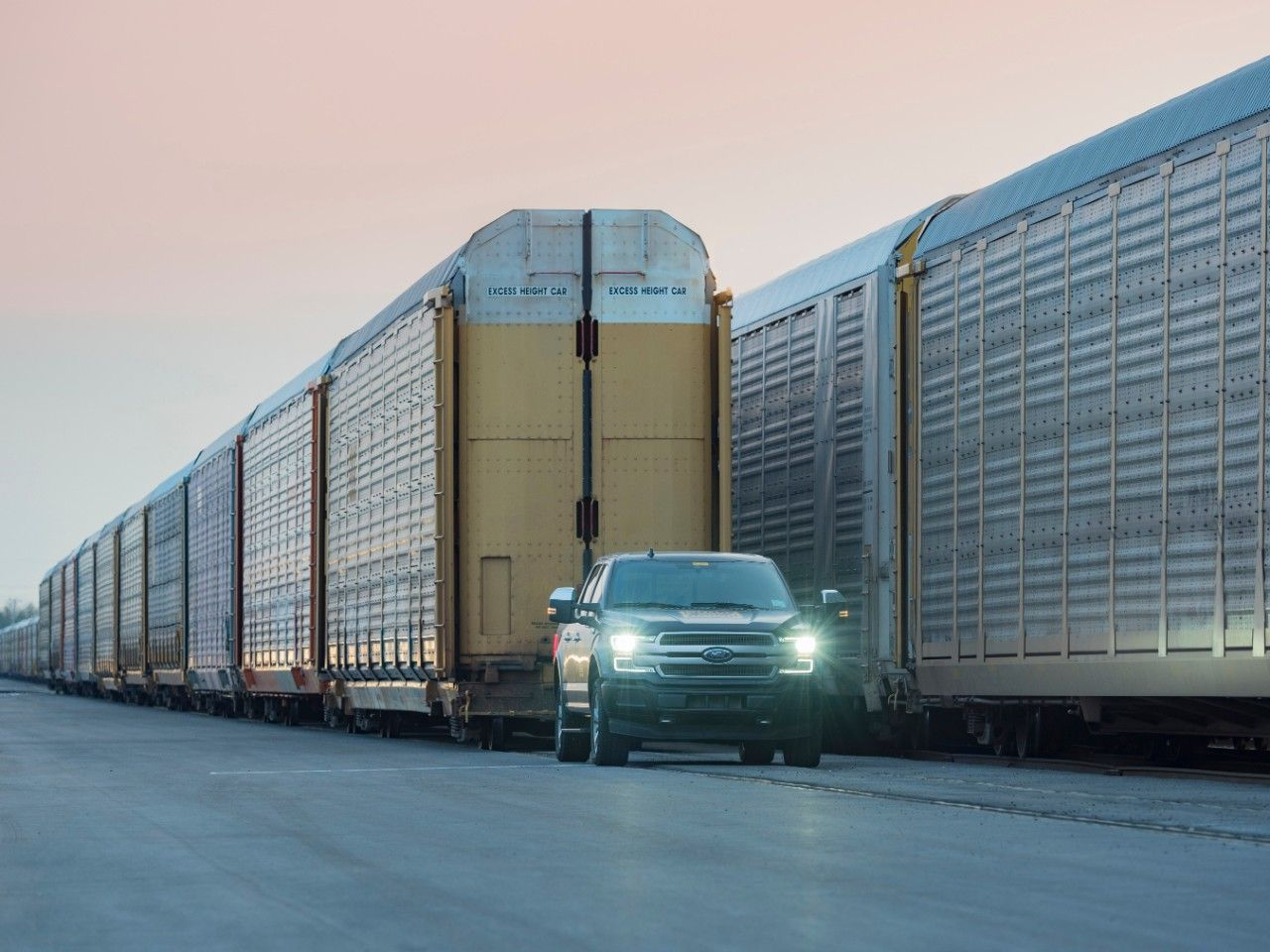 Electric Ford F 150 Pickup Truck Tows A Million Pound Train Is
