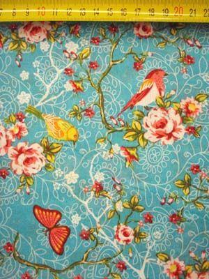 Daisy vogel aqua - kinder-gordijnen.nl   Stof   Pinterest   Fabrics