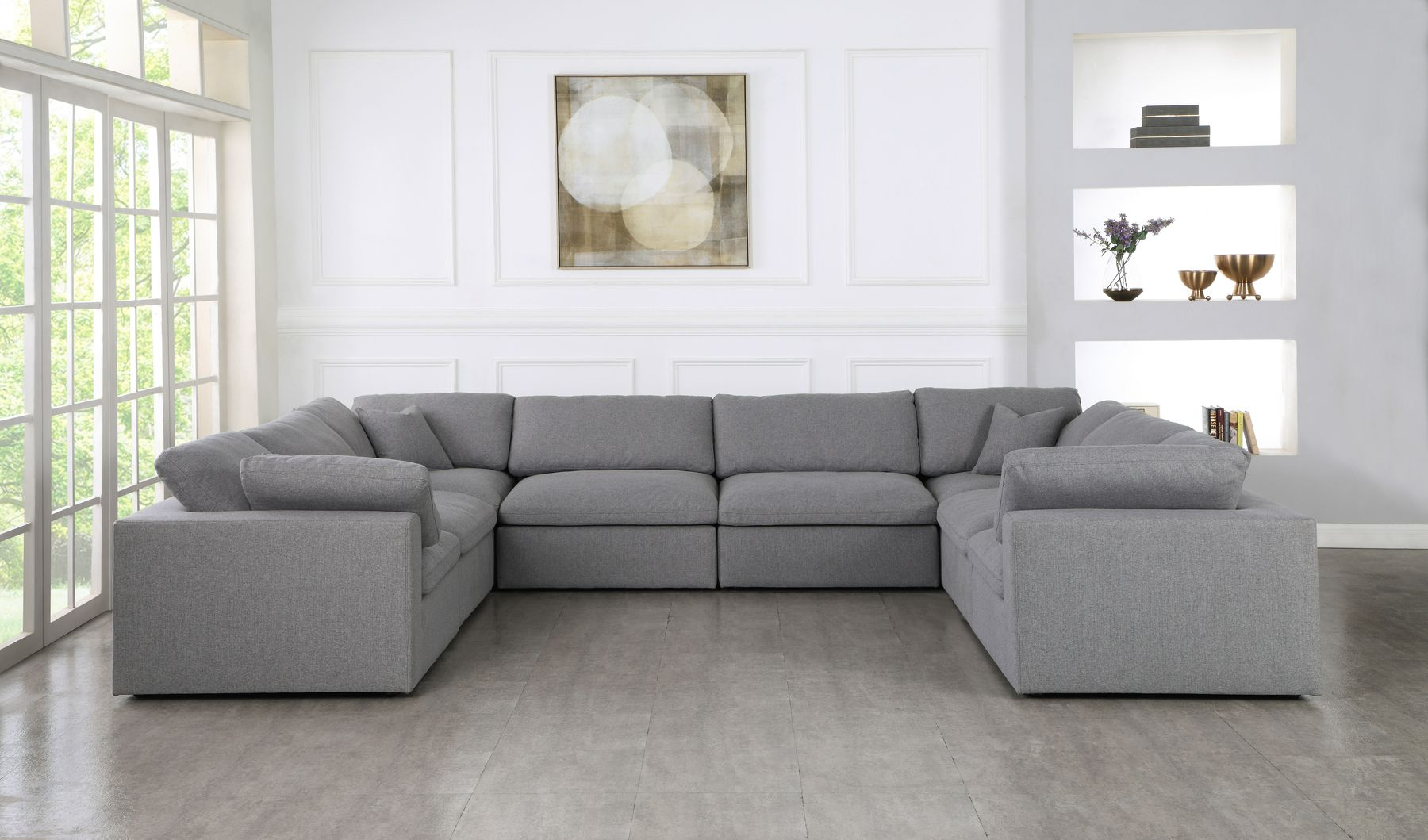 Serene 8a Gray Sectional Sofa In 2020 Sectional Sofa Grey Sectional Sofa Modular Design