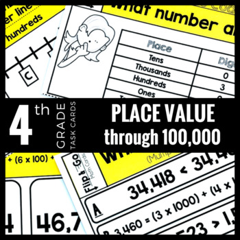 Place Value Task Cards 4th Grade Math Centers | 4th grade ...