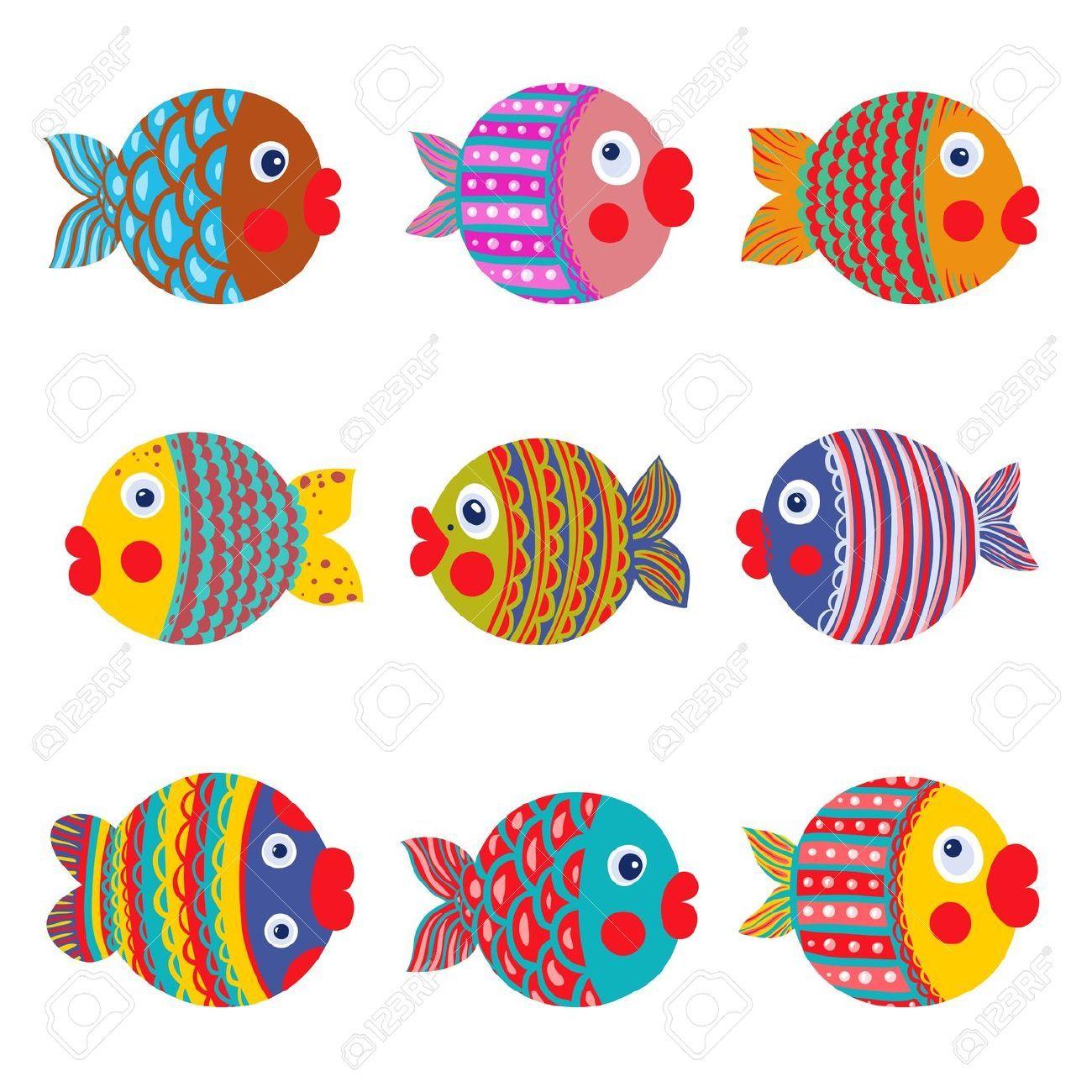 Pin De Dirce Em Papiemache Peixes Coloridos Desenho De Peixe