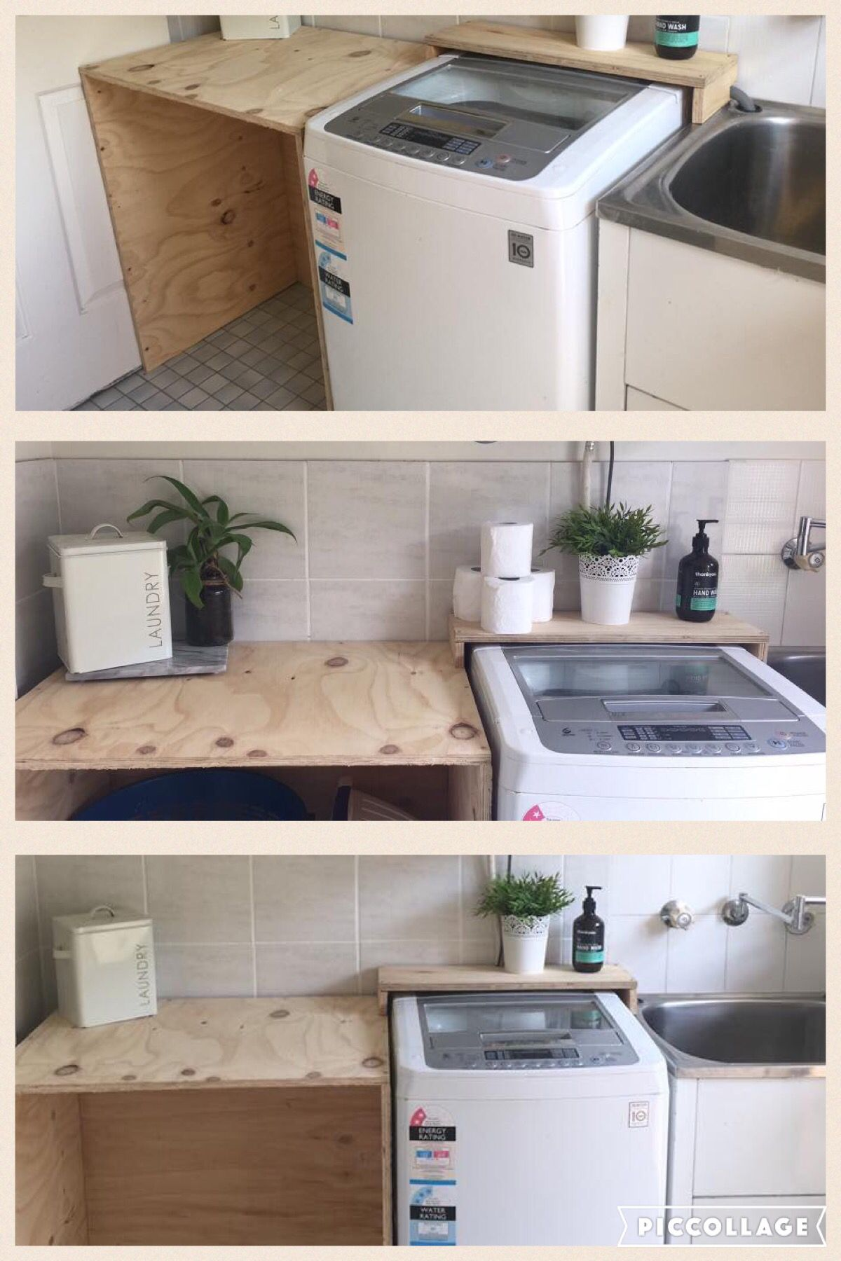 Awesome Easy Diy Laundry Bench Cupboard Made From Plywood Laundry Room Design Diy Home Decor Diy Laundry