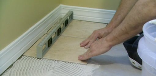 How to Tile Over Vinyl Flooring Tile floor diy, Vinyl