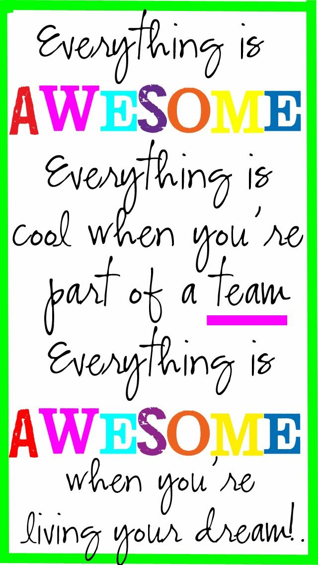 Everything Is Awesome Free Phone Wallpaper Lego Movie Quotes Everything Is Awesome Lego Quotes
