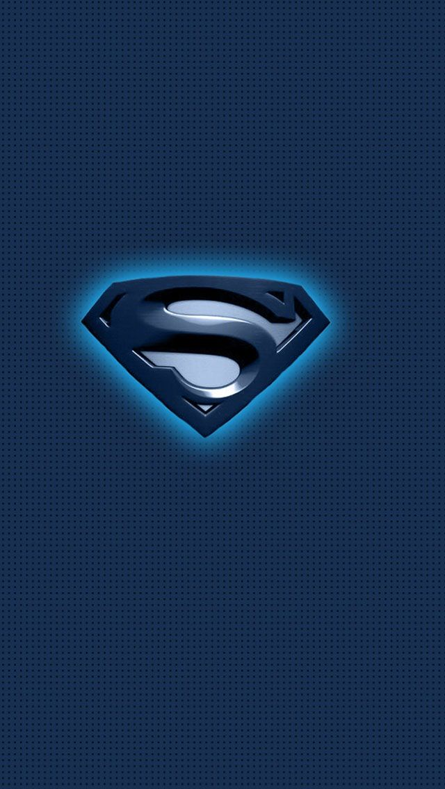 Superman Blue Logo IPhone 5 Wallpaper