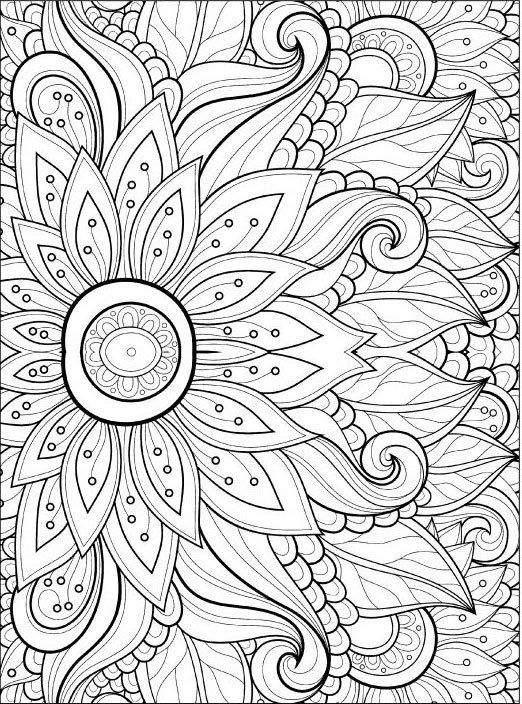 Adult Coloring Pages Flowers 2 2 Coloring Pages Pinterest - Coloring-pages-with-flowers