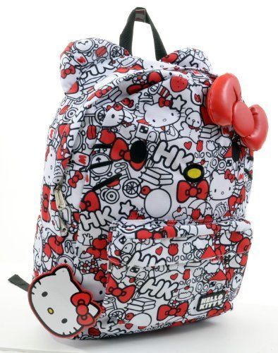 08edd952ab Hello Kitty Red and White All Over Print Backpack by Loungefly  www.4everfunky.com!!
