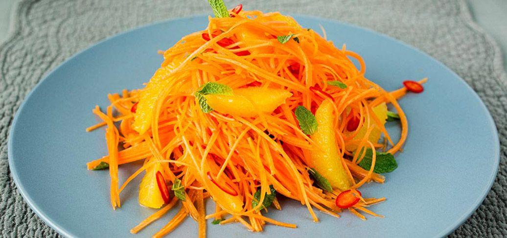 Gulrot- og appelsinsalat med chili | Lises blogg