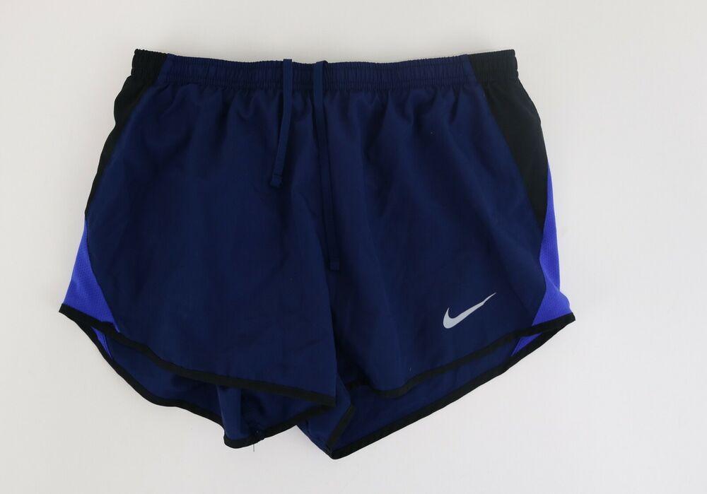 Nike dri fit running shorts girls bottoms size s navy blue