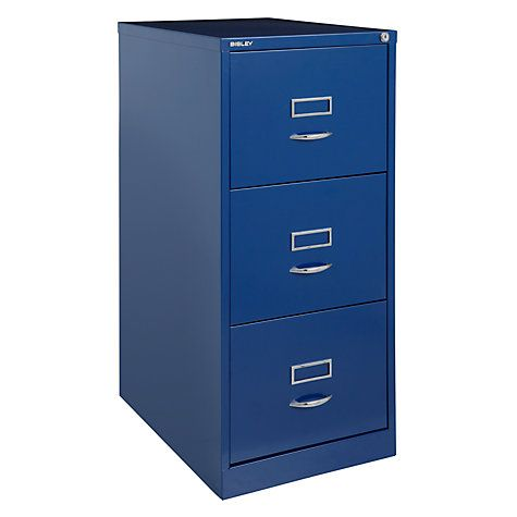 newest 854ea be4c5 Bisley 3 Drawer Filing Cabinet, Cassis | Cabinets / konsol ...