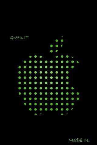 خلفية ايفون بأسلوب آبل Iphone Design Iphone Dot Logo