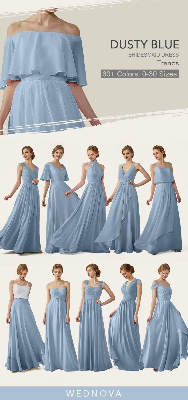 amazing dusty blue bridesmaid dresses straps dress chiffon