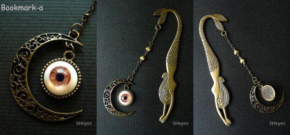 Metal Bookmark with Handmade Urethane Eye от model01 на Etsy