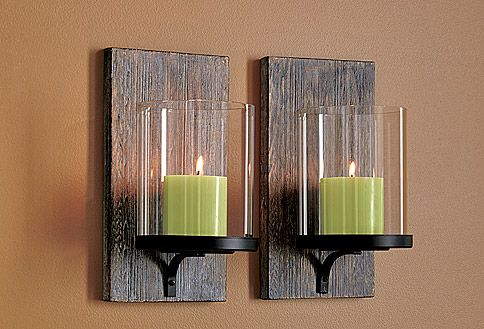 modern rustic wall sconces love these - Rustic Candle Wall Sconces