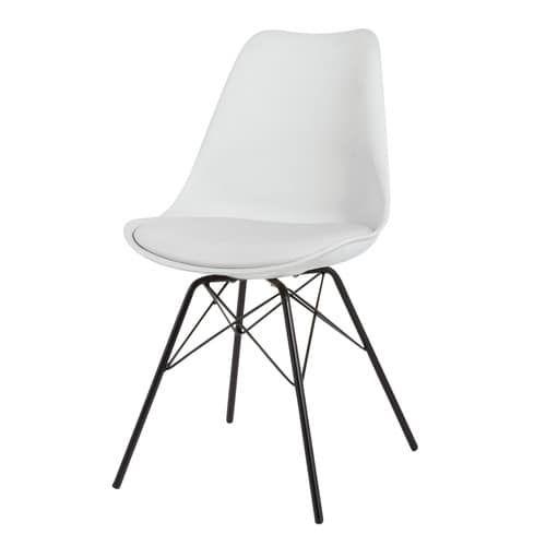Dieser Weiße Stuhl Im Sachlich Schlichten Design Ist Das Perfekte Stück Für  Ihren Modernen Essraum. Mit Seinem Bequemen Schaumstoff Sitz Eignet Sich  Dieser ...