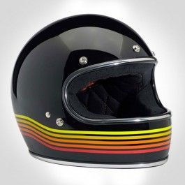 BILTWELL GRINGO HELMET - SPECTRUM BLACK ORANGE - Urban Rider London