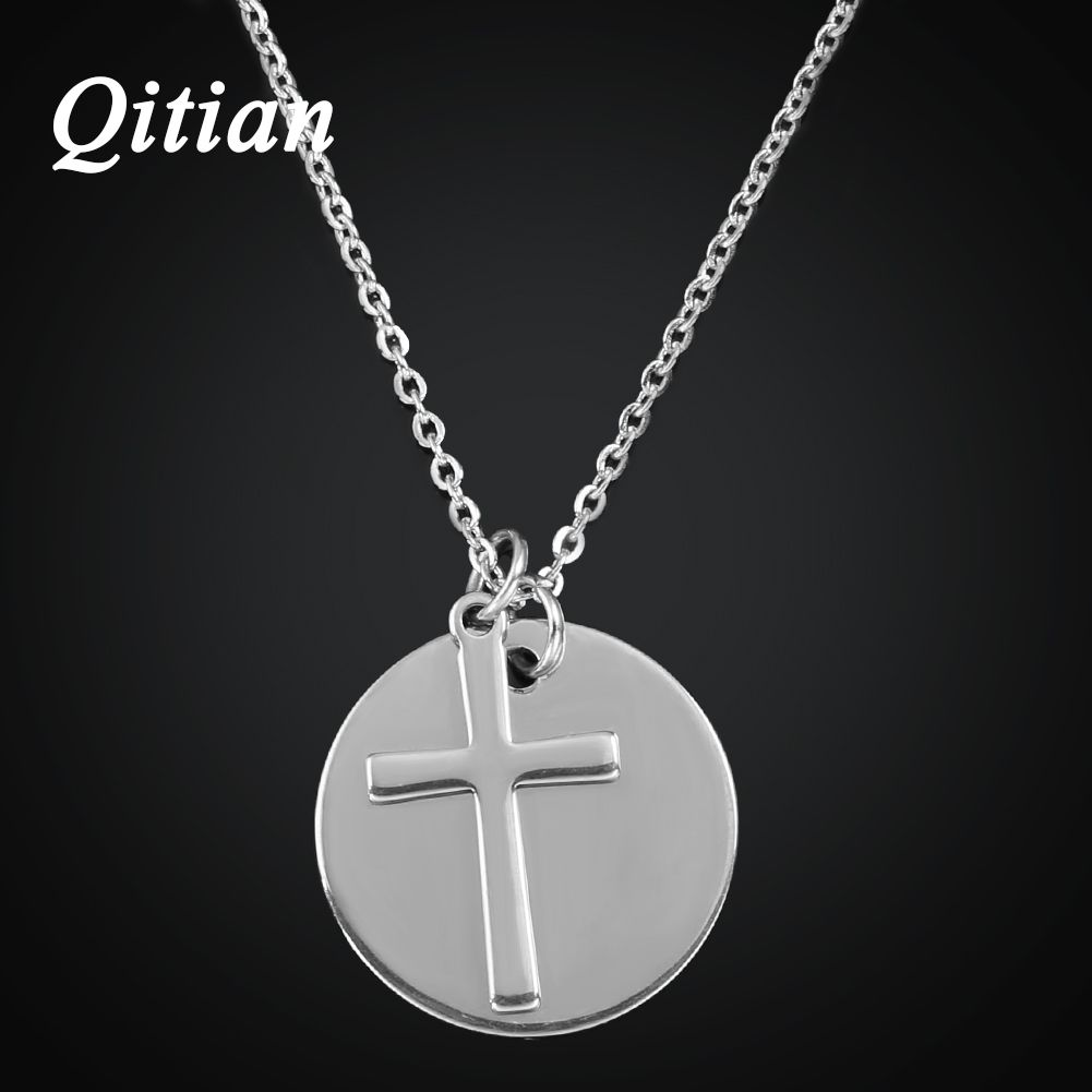 Qitian personalized pendant necklaces men cross necklaces qitian personalized pendant necklaces men cross necklaces stainless steel initial necklace diy engraved custom jewelry for aloadofball Image collections