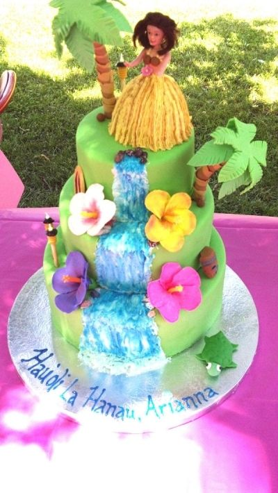 Hawaiian Birthday Cake By gebster on CakeCentral.com