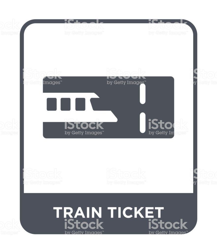 Train Ticket Icon Vector On White Background Train Ticket Trendy Train Tickets Travel Collection White Background