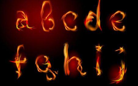Tipograf�a vectorizada con estilo fuego