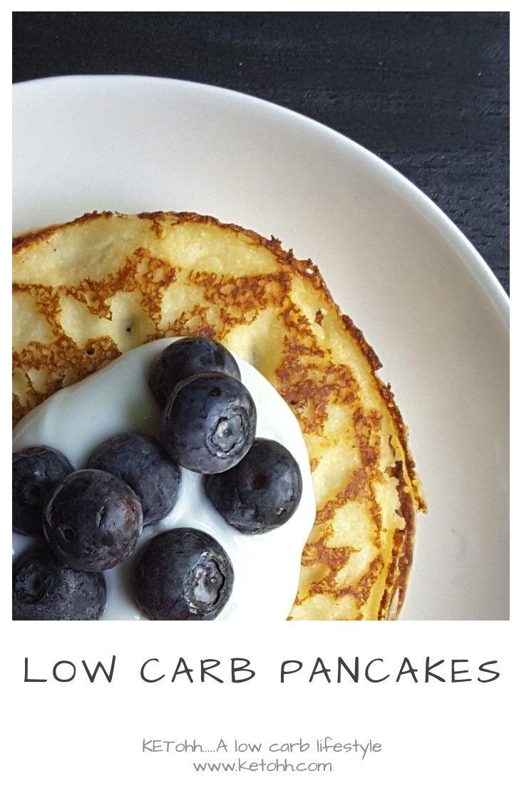 Low Carb Pancakes Recipe Low carb pancakes, Low sugar