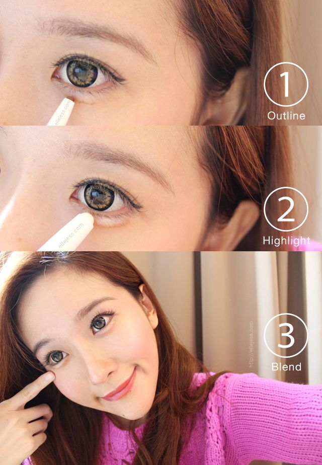 Elle And Jess How To Aegyo Sal Puffy Smiling Eyes In 3 Steps Puppy Eyes Makeup Hot Makeup Makeup Trends