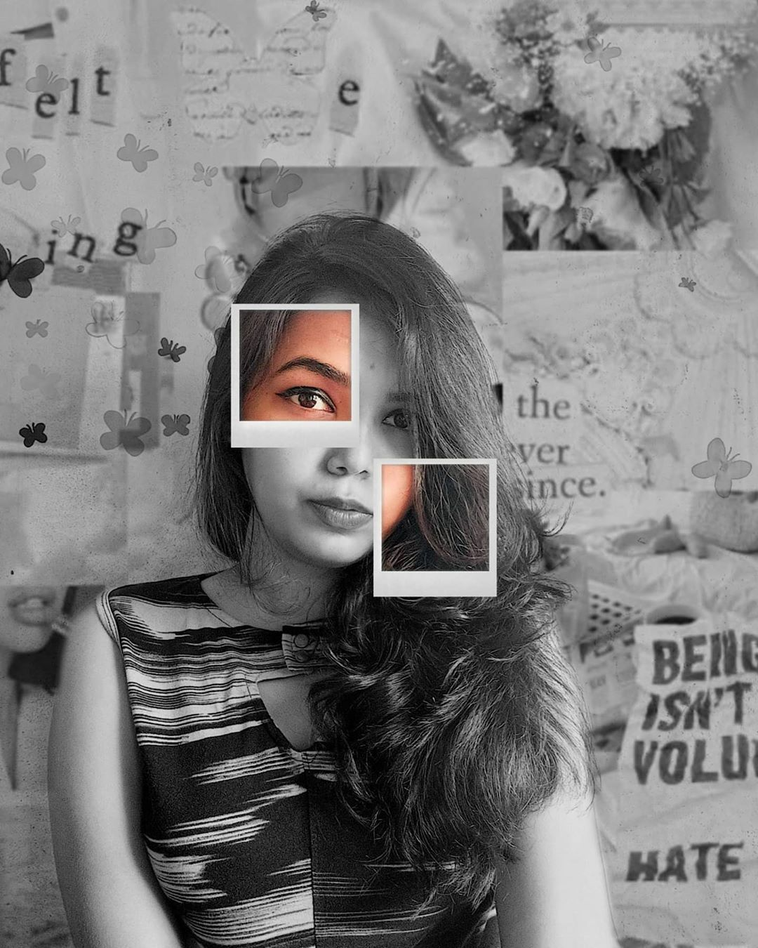 Dare to be real, it's rare💜 . . . 📸 - redmi note 8 pro @redmiindia . . . . #selfportrait #selfportraits #selfportraitphotography #portraiture #photooftheday #picsart #picsartedit #picsarttutorial #picsartedits #picsartediting #explore #aesthetic #aesthetics #aestheticedits #aestheticbackground #advancedselfie #instagood #instagram #mobilephotography #creativephotography #insta #howtopose #aesthetic #selfphotography #creativeportraits #contentcreator #bornoninstagram #blackandwhite #retro #mood