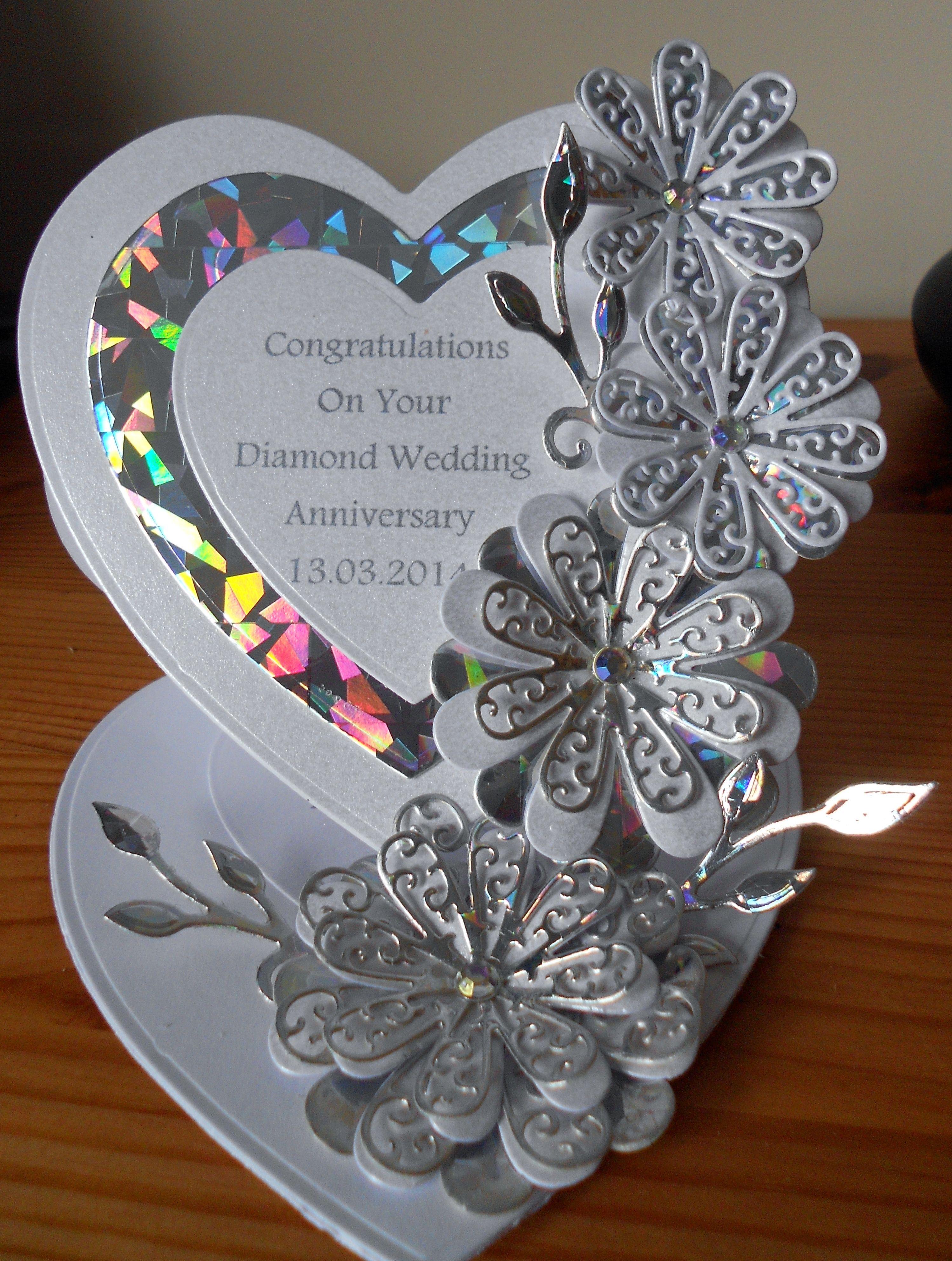 Tattered Lace Diamond Wedding Anniversary Card
