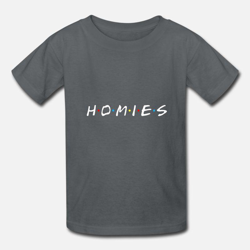 Homies white letter Kids' T-Shirt | Spreadshirt