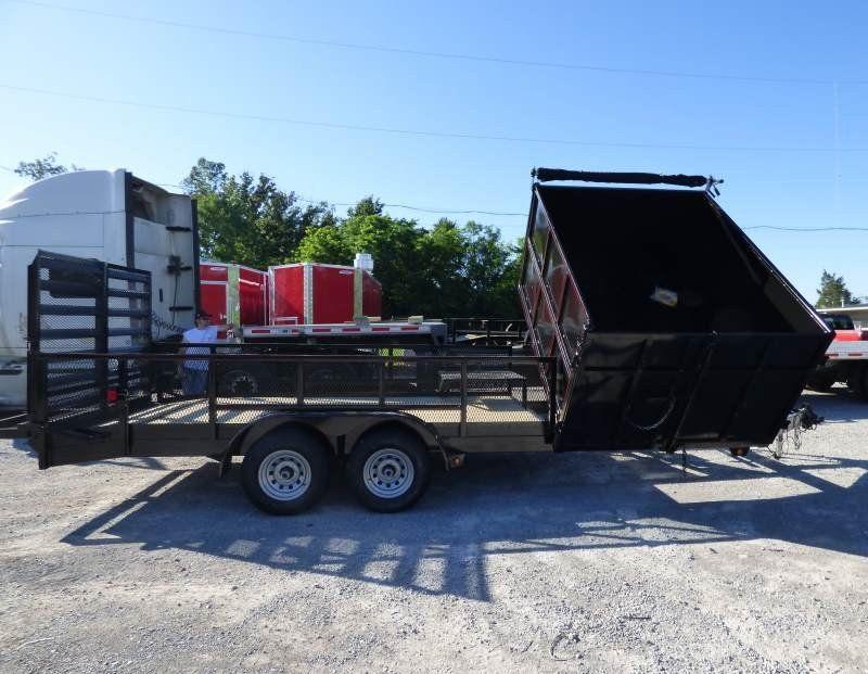 Hybrid Dump Trailer 7' x 20' With 6' Side Dump Bed SLE