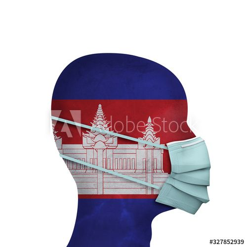 Cambodia healthcare. Person with protective face mask. 3D Render , #SPONSORED, #Person, #healthcare, #Cambodia, #protective, #Render #Ad