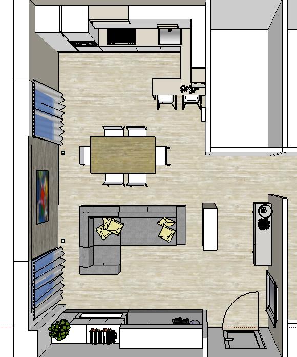Progetto living-cucina-3-variantesnack-1 | Idee per la casa ...
