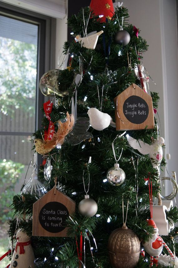 Tart up the Christmas tree with some timber decorations