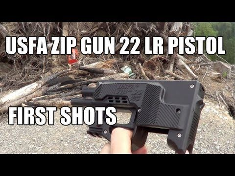First Shots Usfa Zip Gun 22 Lr Pistol Epic Fail Firearms Guns