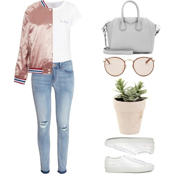 #471 by missad3 on Polyvore featuring mode, Maison Labiche, Topshop, H&M, Common Projects, Givenchy and Ray-Ban