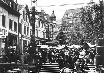 historische postkarte innenstadt bochum alter markt um 1934 mein bochum b v d 1965 pinterest. Black Bedroom Furniture Sets. Home Design Ideas