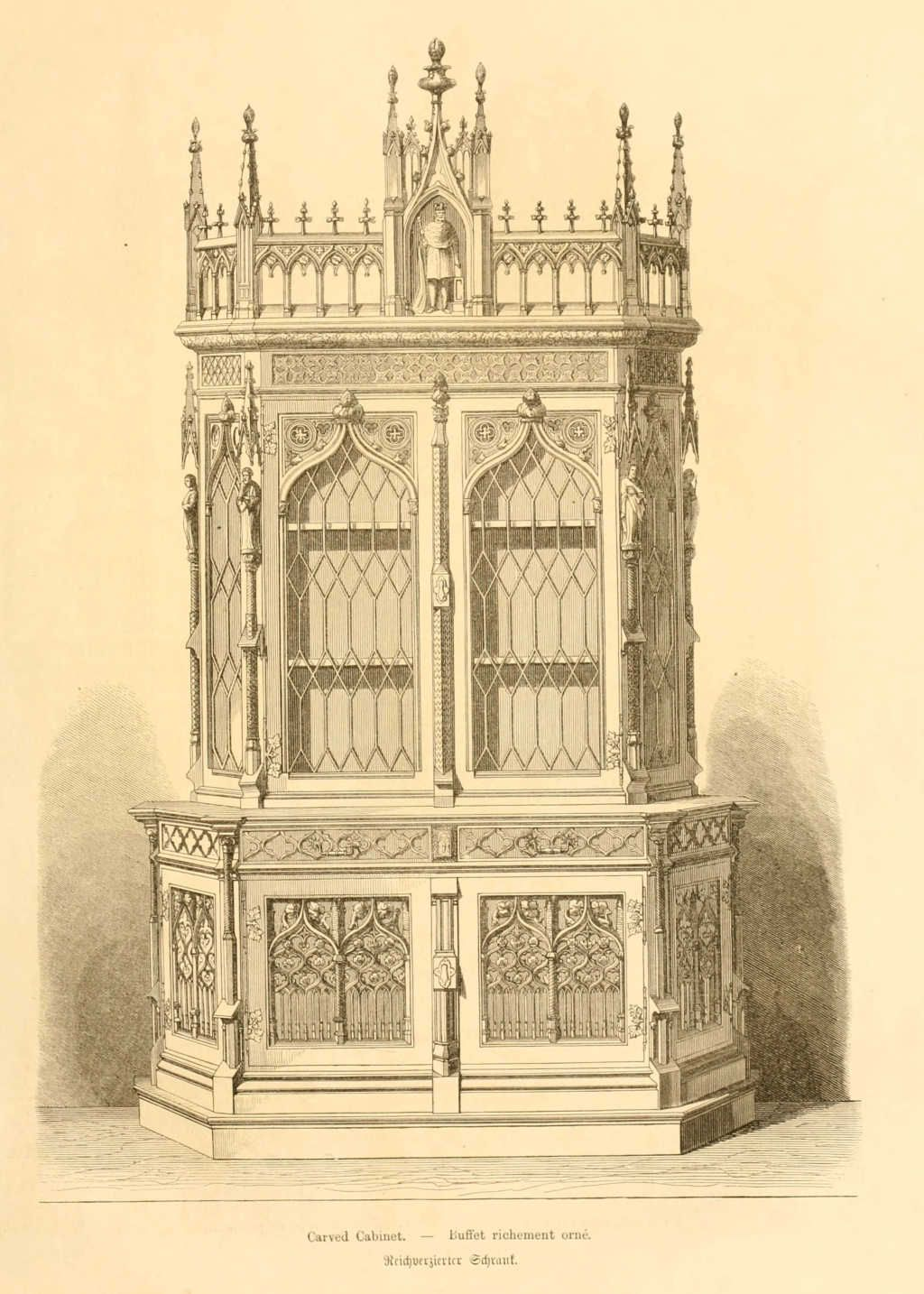 Mobilier De France Catalogue Gothic Style Design For A Cabinet From 39dessins De