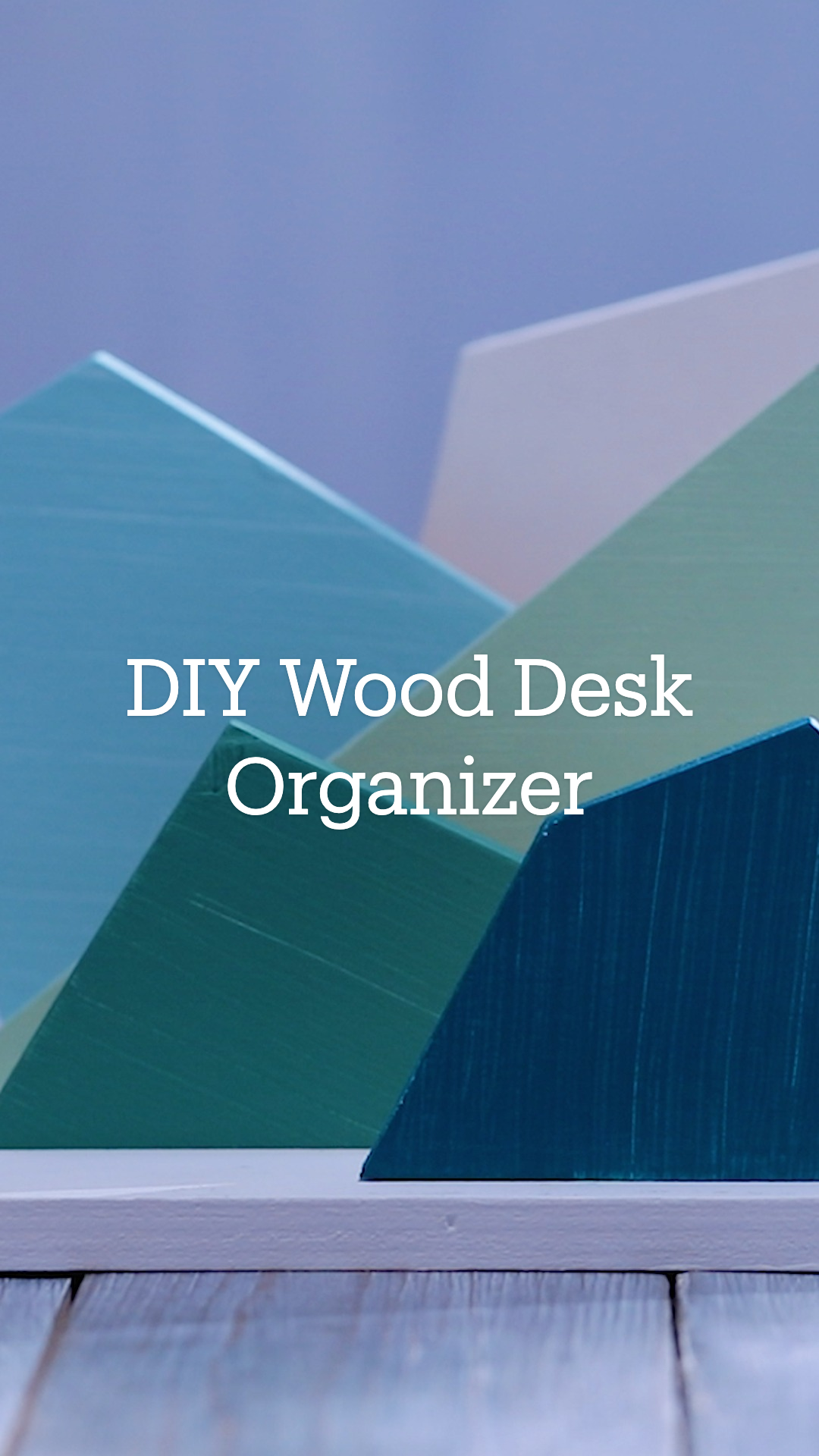 DIY Wood Desk Organizer