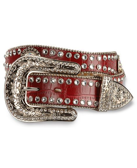 Pretty red cowgirll belt | Bling belts