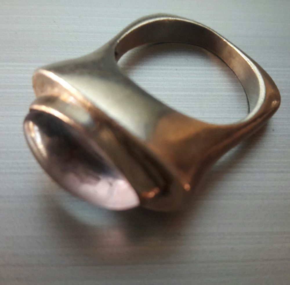 Rare Estate Sale Savati Sterling Silver Modernist Light Purple Stone Ring Size 6 #Savati #Wrap