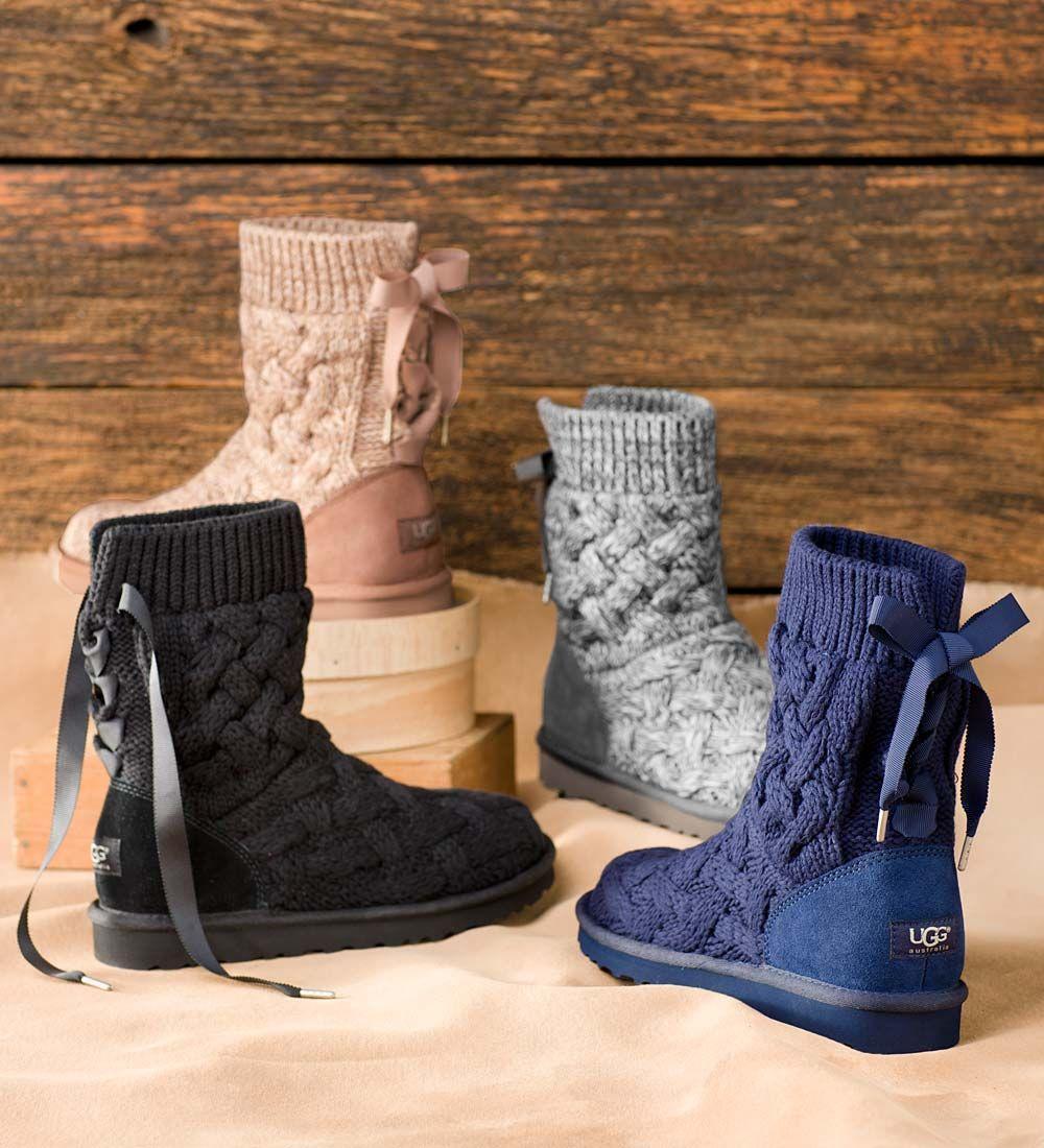 UGG%26reg; Australia Isla Knit Boots
