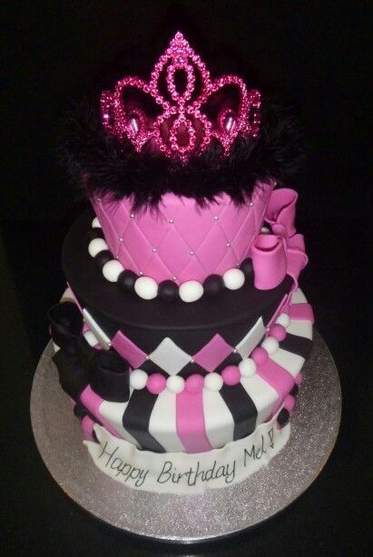 3 tier princess birthday cake cakes I have made Pinterest