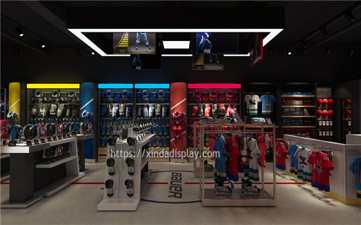 Custom Hockey Sport Shop Design Ice Hockey Shop Fittings Manufacturing Retail Interior Design Retail Store Design Shop Interior Design