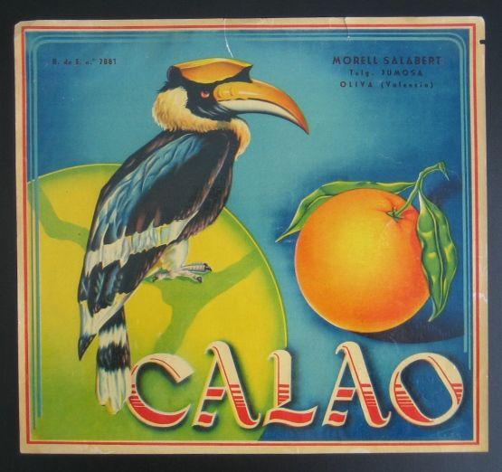 Antique Orange Publicity for oranges from Valencia, Spain