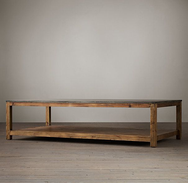 Old Fir Coffee Table With Bluestone Top Harvest Furniture