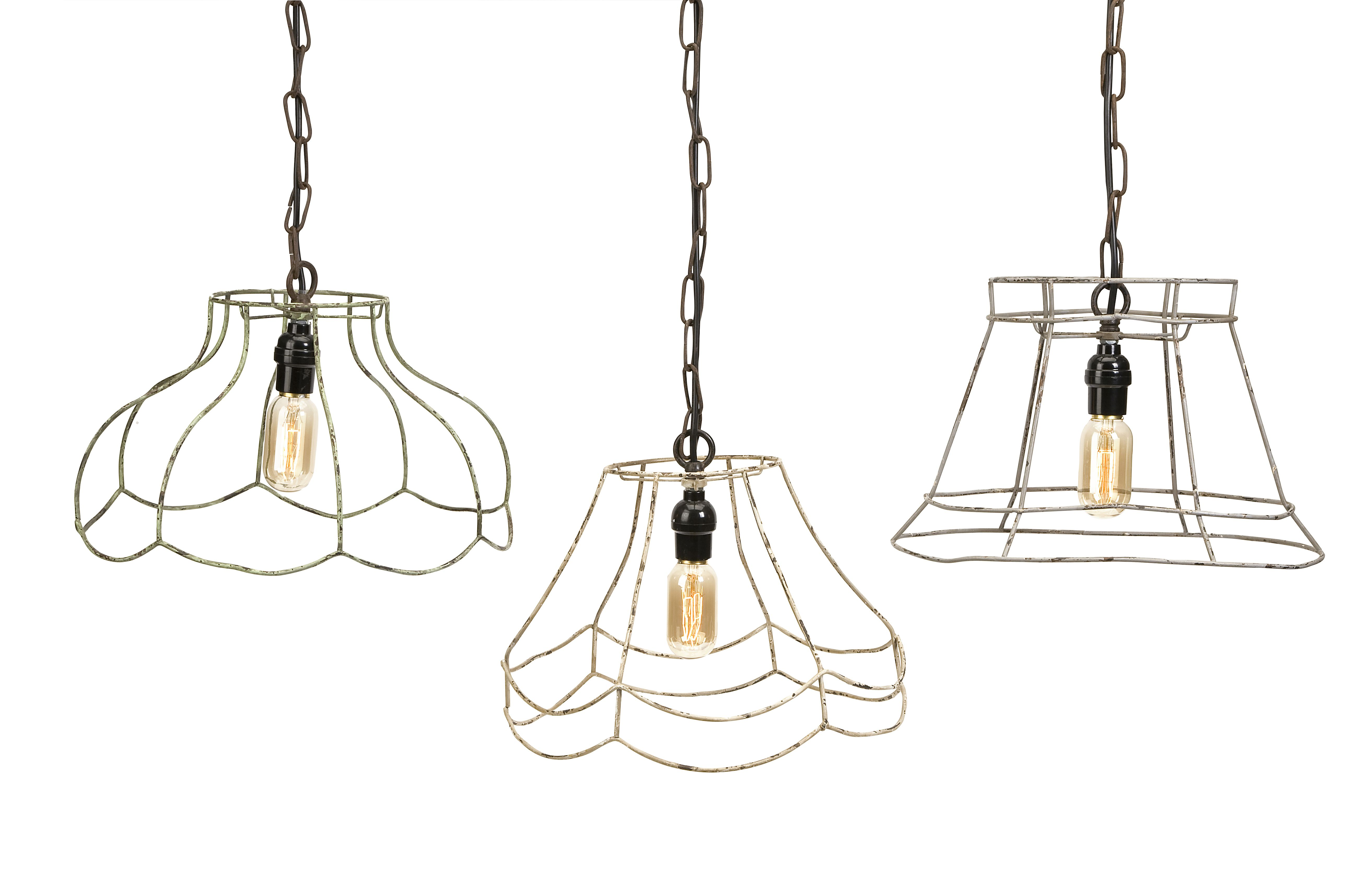 Crestly wire lamp shade pendants set of imax pinterest