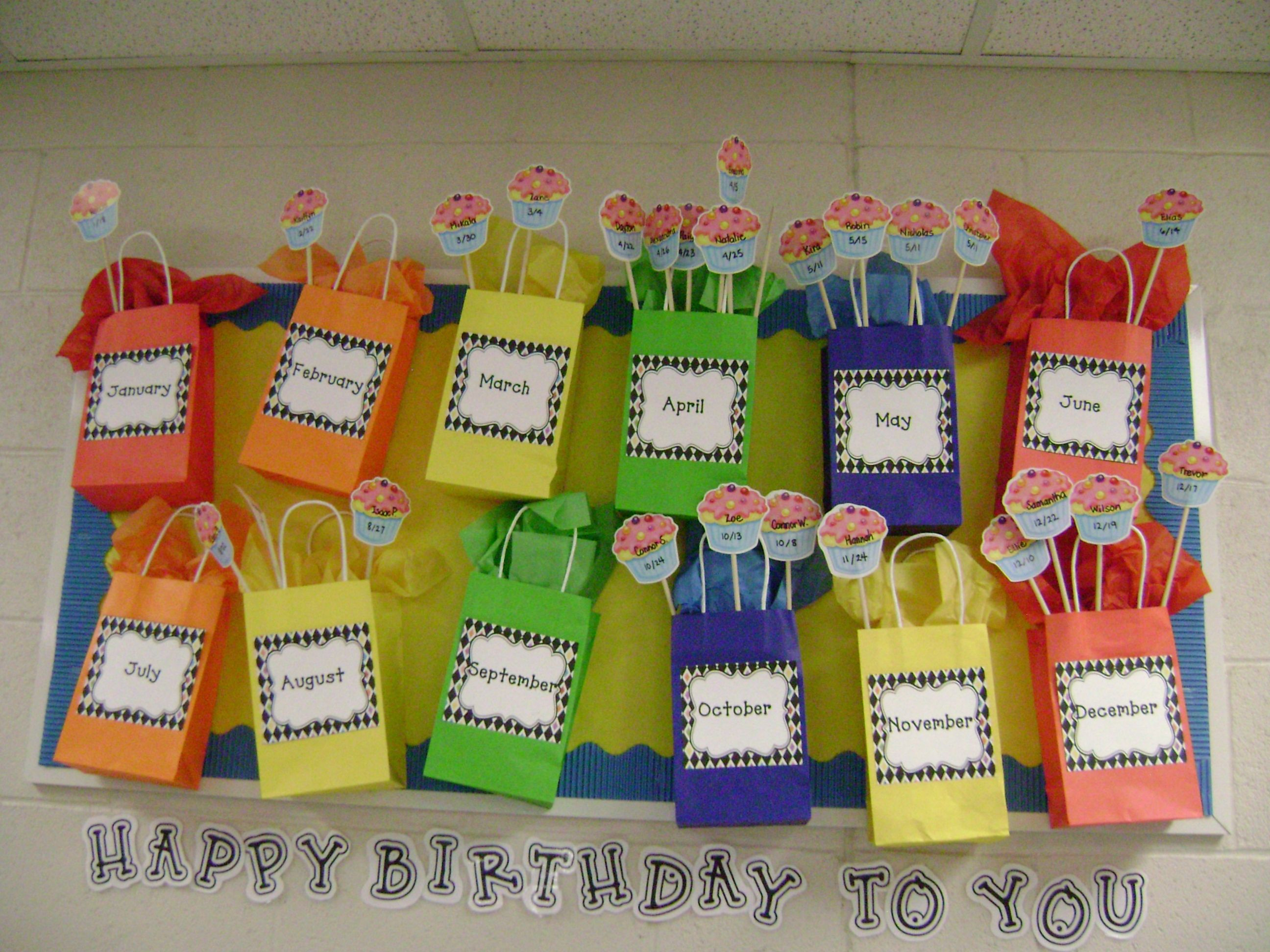 A Creative Way To Display Birthday S In Your Classroom