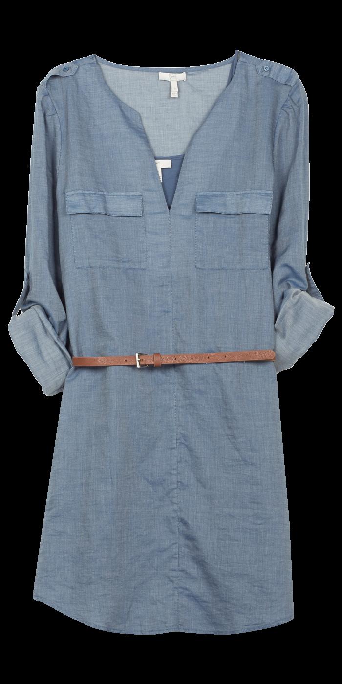 Rathan Denim Shirt Dress By Joie