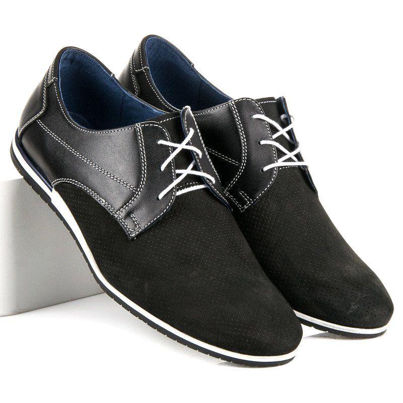 Polbuty Meskie Lucca Czarne Azurowe Polbuty Lucca Lucca Dress Shoes Men Oxford Shoes Womens Oxfords