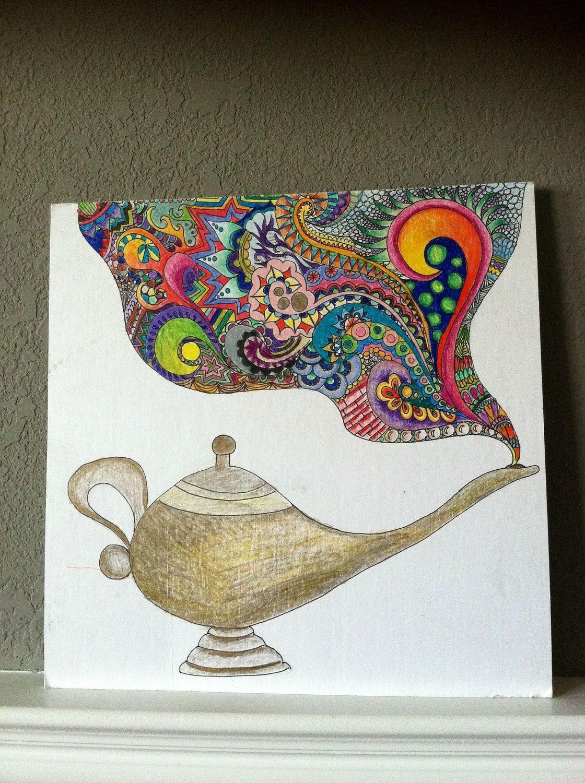Genie Lamp Drawing